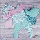 Eigenproduktion Happy Whales Wale Türkis mint sweat Knitknit Albstoffe